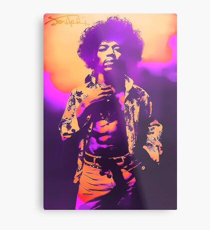 Purple Haze Jimi Metal Print