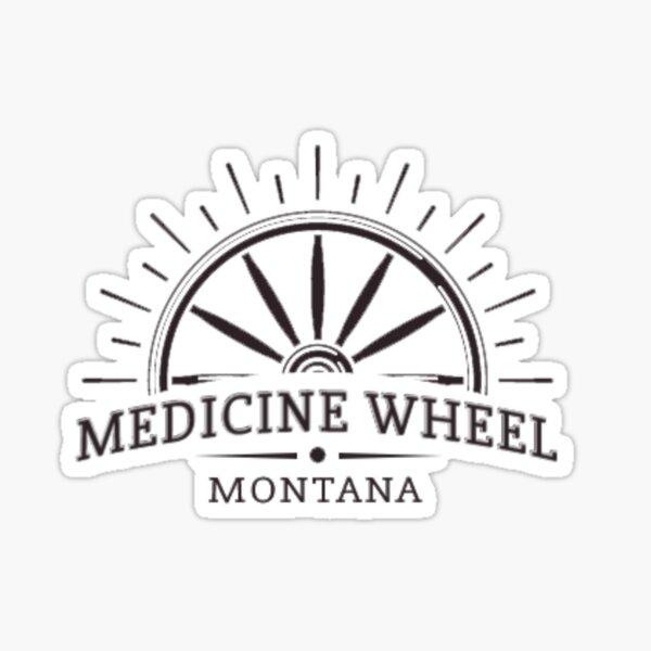 Medicine Wheel, Montana logo Sticker
