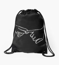 Holding Hands Drawstring Bag