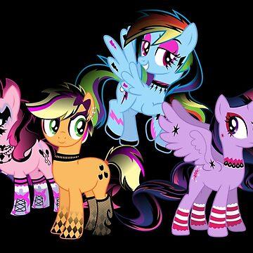 Goth Ponies by Jebus13