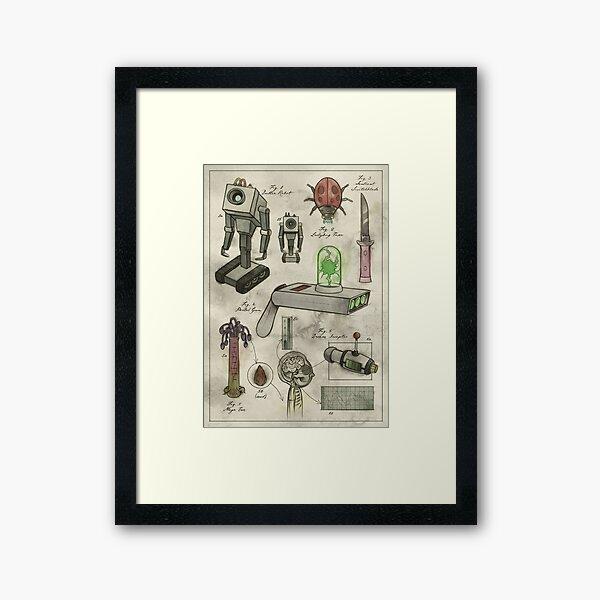 Rick and Morty - Vintage Gadgets #1 Framed Art Print