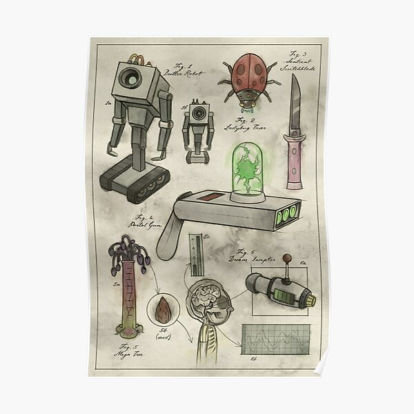 Rick and Morty - Vintage Gadgets #1 Poster