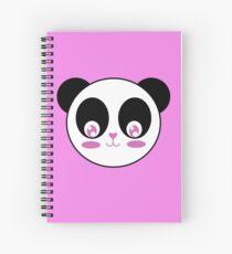 Kawaii Heart Nose Panda Spiral Notebook
