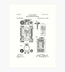 First Computer Patent - Technology Art - Black And White Art Print