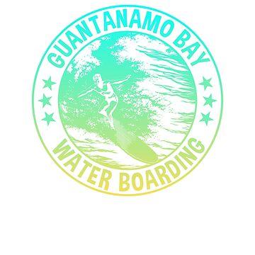 Retro Guantanamo Bay Waterboarding Gradient Style by n--o--n