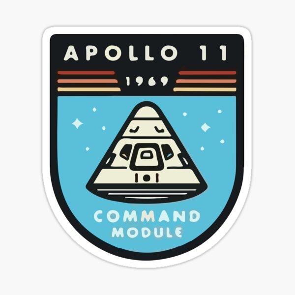 Apollo 11 Space Design Sticker