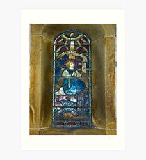 Window #4 - East Witton Church Art Print