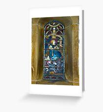 Window #4 - East Witton Church Greeting Card
