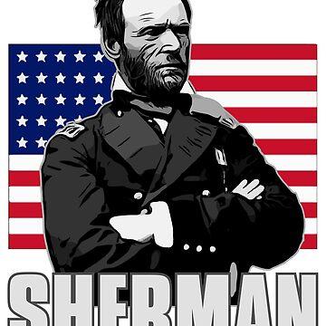 William Tecumseh Sherman Shirt Union US Flag Graphic by n--o--n