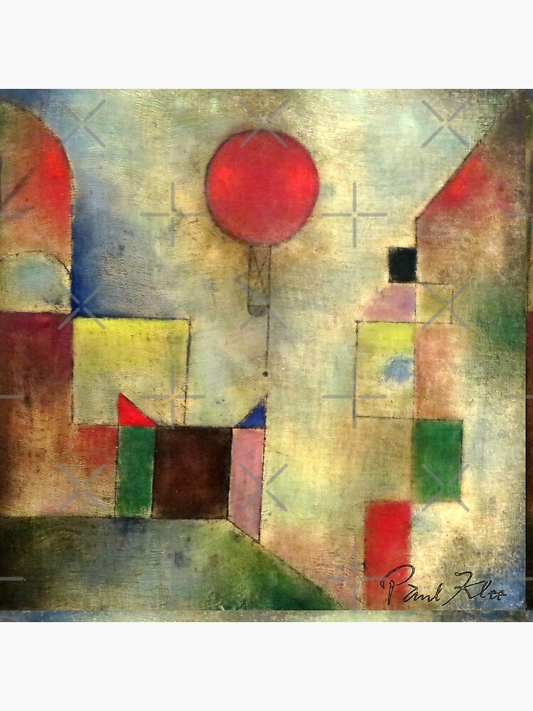 Paul Klee   Red Balloon   Klee-inspired Fine Art w/ Signature by Gascondi
