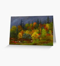 Autumn Foliage - Jasper Francis Cropsey 1823-1900 Greeting Card