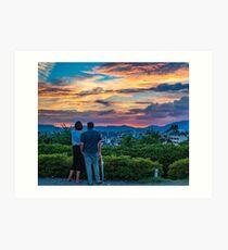 After storm sunset Art Print