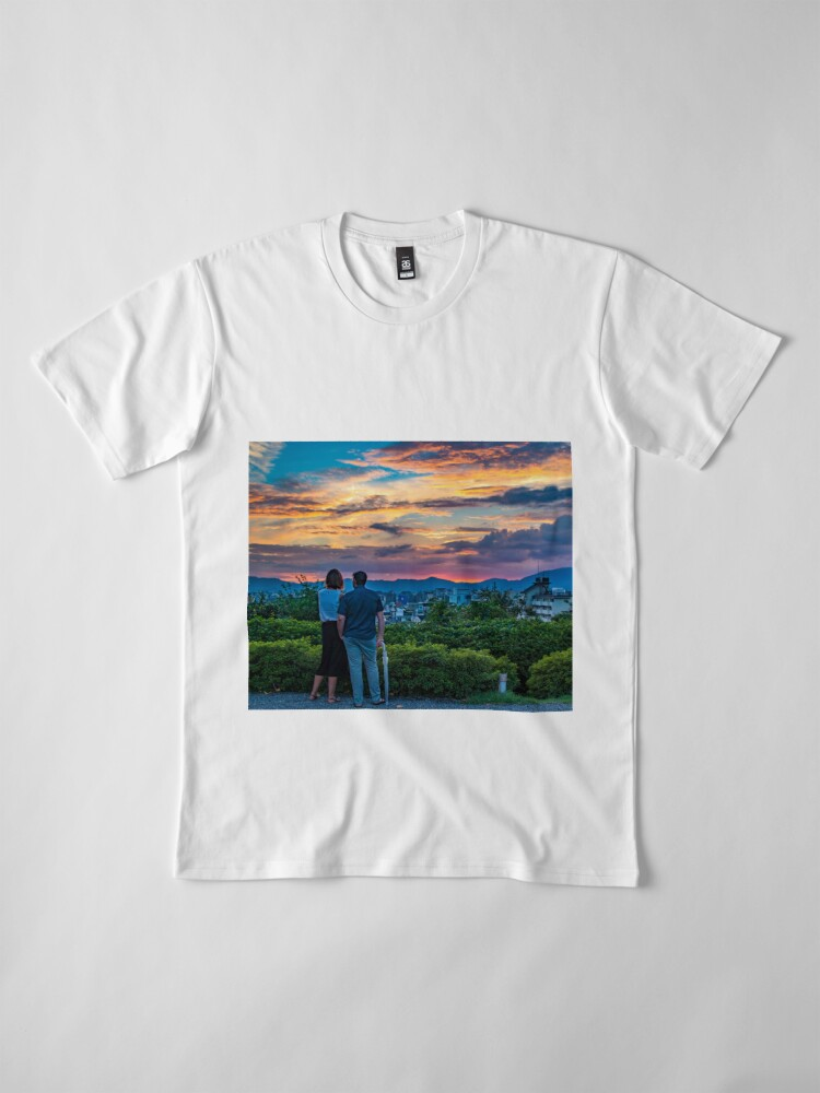 Alternate view of After storm sunset Premium T-Shirt
