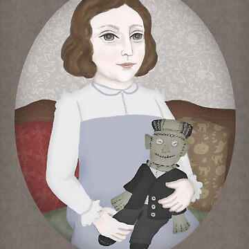 Mary Shelley and her Doll by Fullfrogmoon