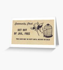 "Monopoly ""Get Out of Jail"" Greeting Card"