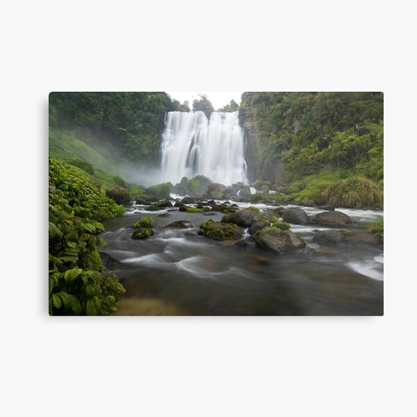 Marokopa Falls, Waitomo. Metal Print