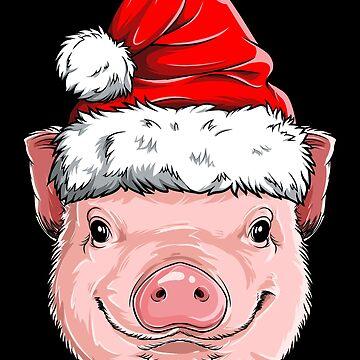 Pig Santa T shirt Christmas Kids Boys Girls Funny Xmas Gifts by LiqueGifts