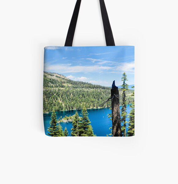 Inspiration Point Emerald Bay Panorama All Over Print Tote Bag