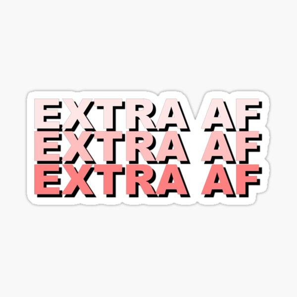 Diseño de texto AF adicional Pegatina