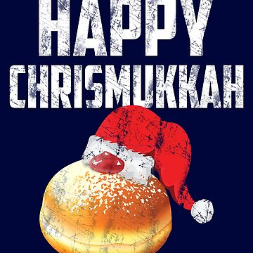 Happy Chrismukka Hanukkah Chanukah Christmas Shirt Santa Hat Sufgania by niftee