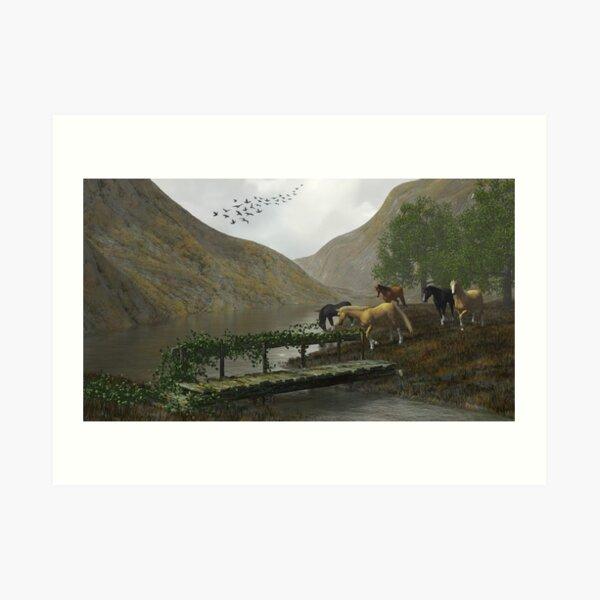 Equine Vale Art Print