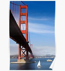 Golden Gate Bridge from below Poster