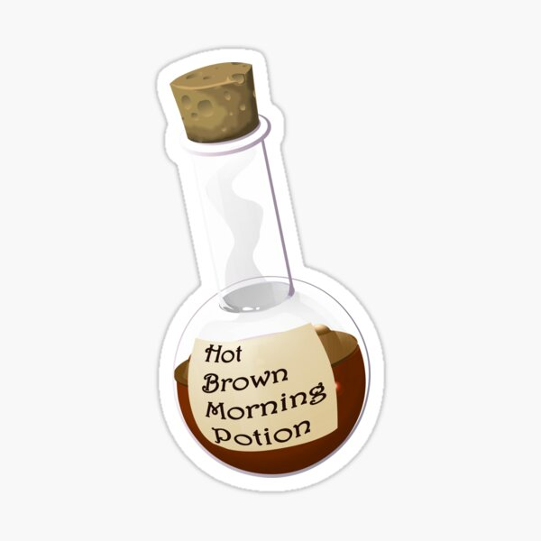 Hot Brown Morning Potion Sticker