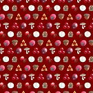 Woodland Winter Berry Print In Cranberry by Evvie Marin