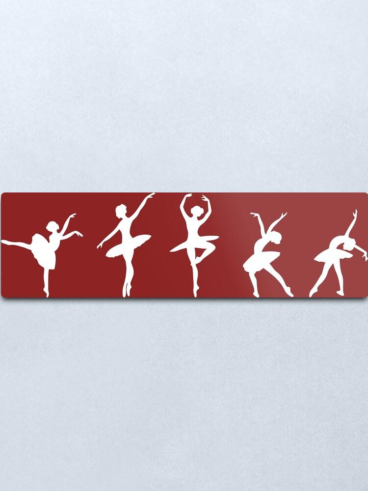 Alternate view of Ballet Evolution, Ballerina Dancer, Moves Artwork, Tshirts, Posters, Prints, Women, Men, Kids Metal Print
