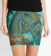 Horse Christmas card Mini Skirt