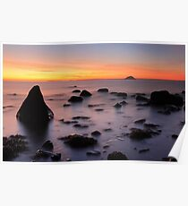 Ailsa craig sunset - South west Ayrshire coast Scotland Poster