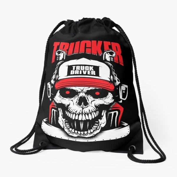 Truck Driver Trucker Drawstring Bag