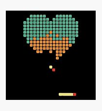 Retrogaming heart Photographic Print
