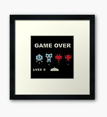 Game over retrogaming Framed Print