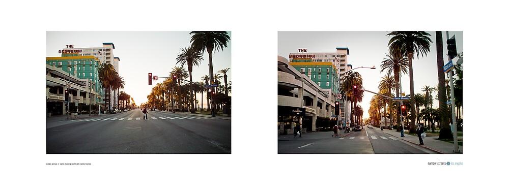 Ocean Avenue + Santa Monica Boulevard, Santa Monica, California, USA...narrowed. by David Yoon