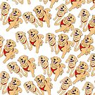 Golden Retrievers Pattern by emilydevineart