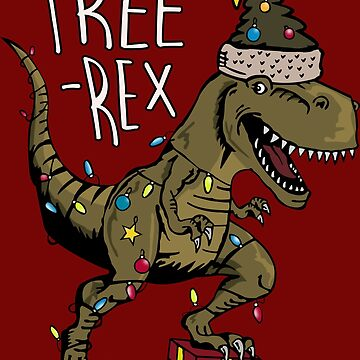 Tree Rex - Christmas Kid Tee by PotatoGear