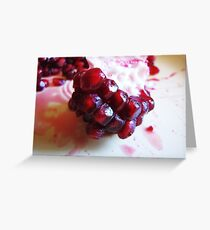 Edible Garnets Greeting Card