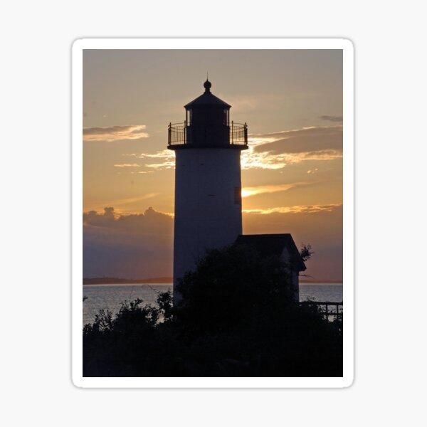 Sunset at Annisquam Lighthouse Sticker