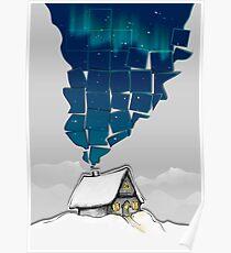 Winter Cottage (No Frame) Poster