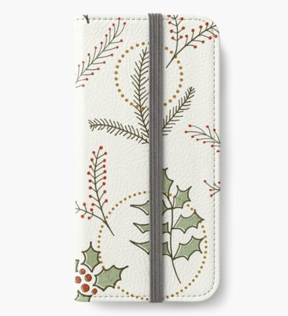 Classic Winter #redbubble #xmas iPhone Wallet