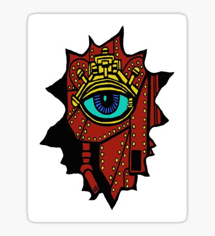 cyborg drawing Sticker