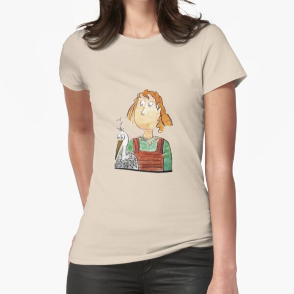 Girl and volture Fitted T-Shirt