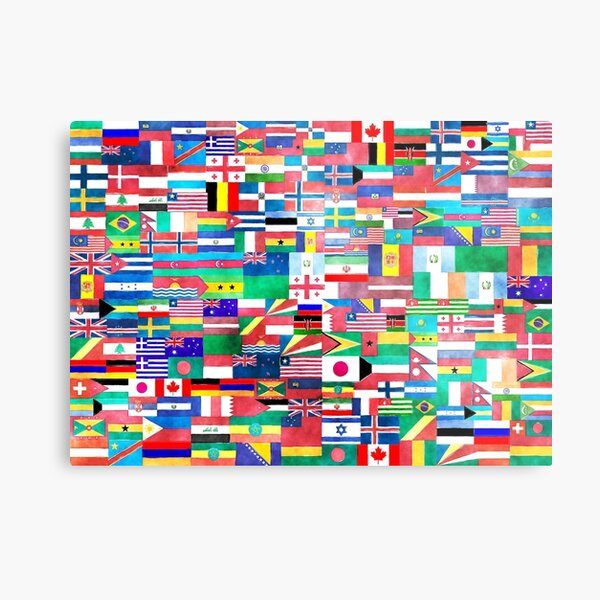 World of Flags Metal Print