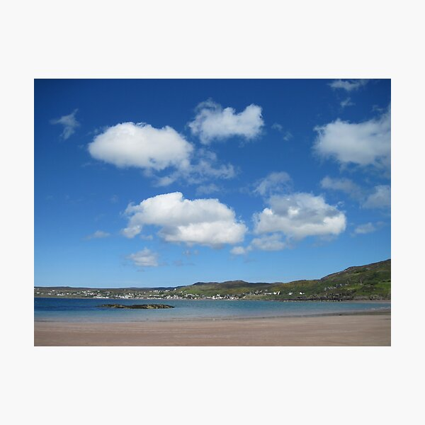 Gairloch from the beach Photographic Print