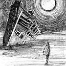 Shipwreck in the desert von Regenassart