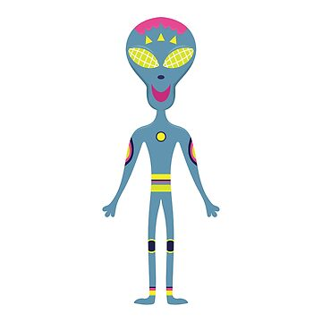 Cartoon flat funny alien. by TatianaPankova