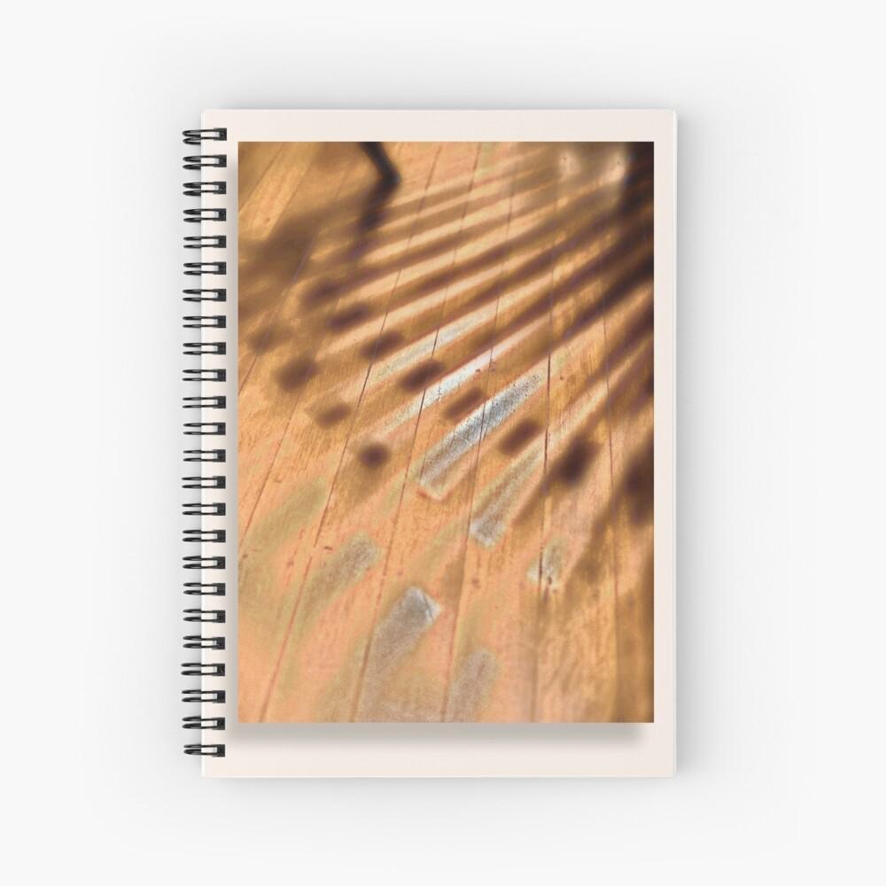 Shadowed floorboards Spiral Notebook
