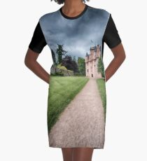 Path to Craigievar Castle Graphic T-Shirt Dress