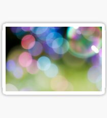 Soap Film - The iridescent colours of soap film Sticker